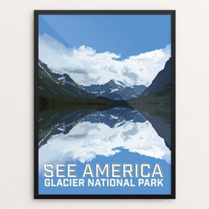 "Glacier National Park by Daniel Gross 12"" by 16"" Print / Framed Print See America"