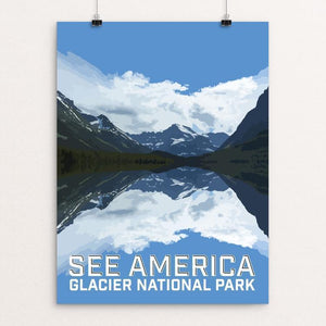 "Glacier National Park by Daniel Gross 12"" by 16"" Print / Unframed Print See America"