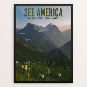 "Glacier National Park by Ike Loveland 12"" by 16"" Print / Framed Print See America"