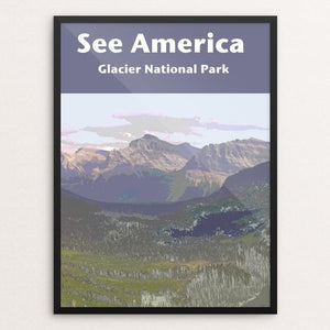"Glacier National Park by Jennie Lambert 12"" by 16"" Print / Framed Print See America"
