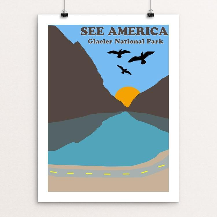 "Glacier National Park by Jordan Nelson 18"" by 24"" Print / Unframed Print See America"