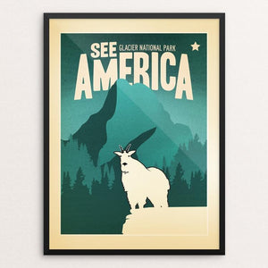 "Glacier National Park by Matt Brass 12"" by 16"" Print / Framed Print See America"