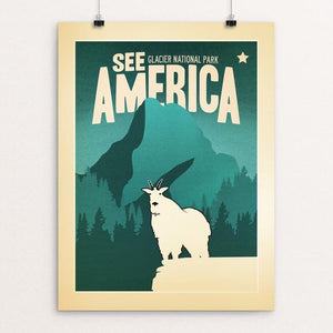 "Glacier National Park by Matt Brass 12"" by 16"" Print / Unframed Print See America"