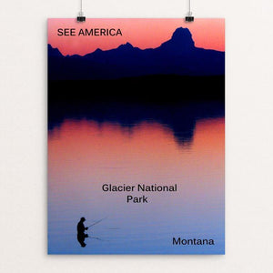 "Glacier National Park by Thomas Besom 12"" by 16"" Print / Unframed Print See America"