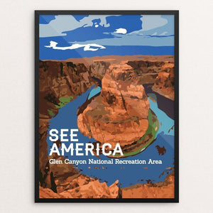"Glen Canyon National Recreation Area by Chris 12"" by 16"" Print / Framed Print See America"