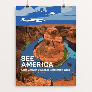 "Glen Canyon National Recreation Area by Chris 12"" by 16"" Print / Unframed Print See America"