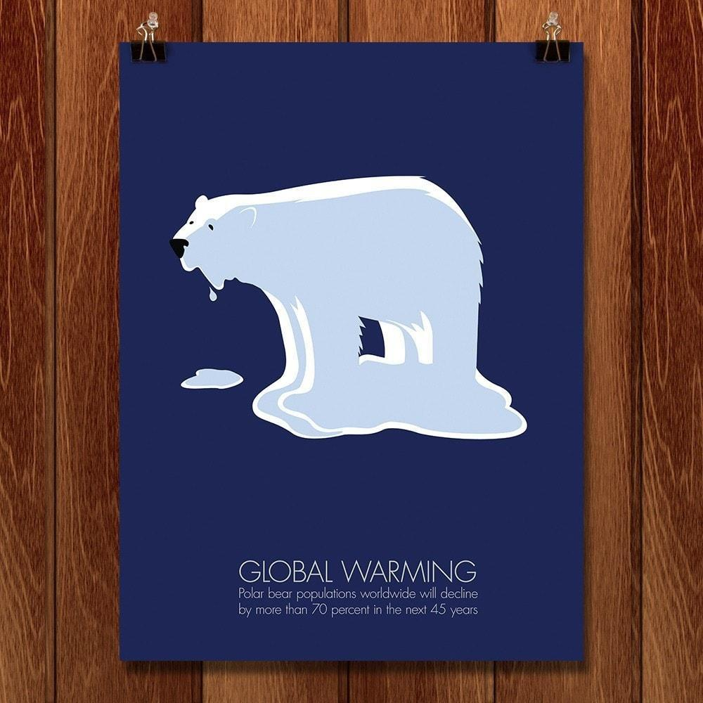 "Global Warming by Vanessa Brown 12"" by 16"" Print / Unframed Print Green Patriot Posters"