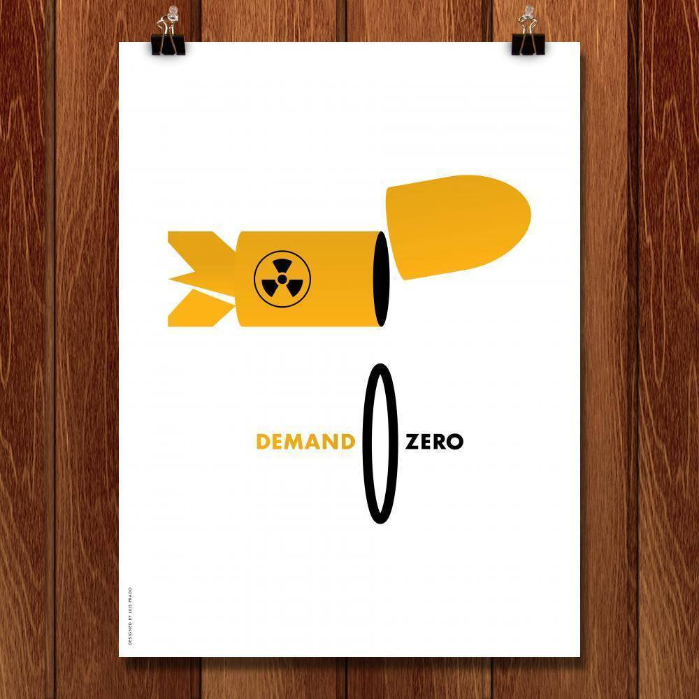 "Global Zero 1 by Luis Prado 18"" by 24"" Print / Unframed Print Demand Zero"