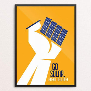 "Go Solar. by Luis Prado 18"" by 24"" Print / Framed Print Green New Deal"