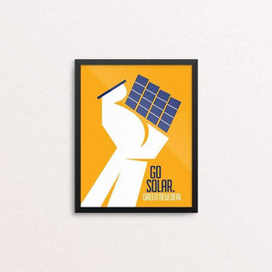 "Go Solar. by Luis Prado 8"" by 10"" Print / Framed Print Green New Deal"