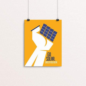 "Go Solar. by Luis Prado 8"" by 10"" Print / Unframed Print Green New Deal"