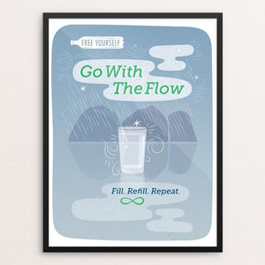 "Go With The Flow by Ellen Sherrod 18"" by 24"" Print / Framed Print Creative Action Network"