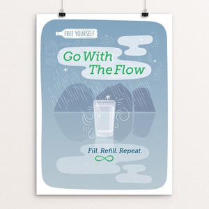 "Go With The Flow by Ellen Sherrod 18"" by 24"" Print / Unframed Print Creative Action Network"