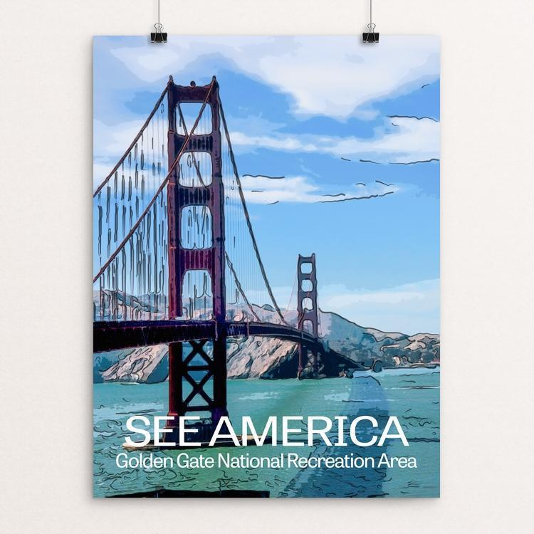 "Golden Gate National Recreation Area by Bimal Mehta 18"" by 24"" Print / Unframed Print See America"