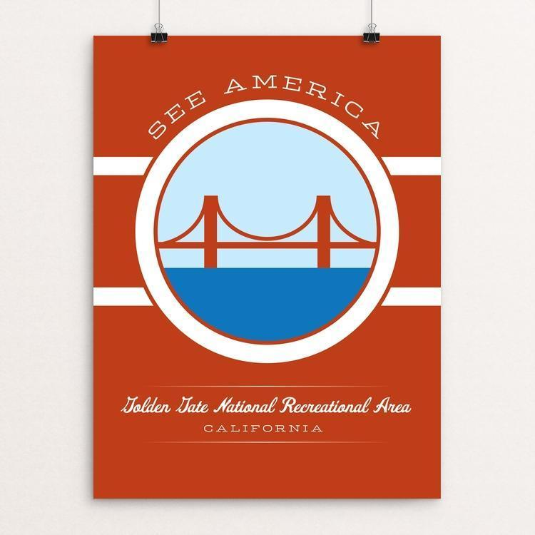 "Golden Gate National Recreation Area by Brandon Kish 12"" by 16"" Print / Unframed Print See America"