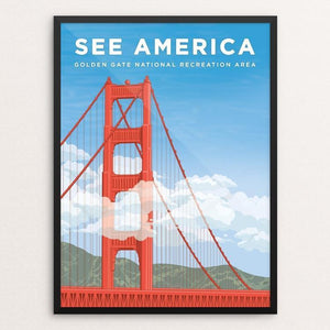 "Golden Gate National Recreation Area by David Hays 12"" by 16"" Print / Framed Print See America"
