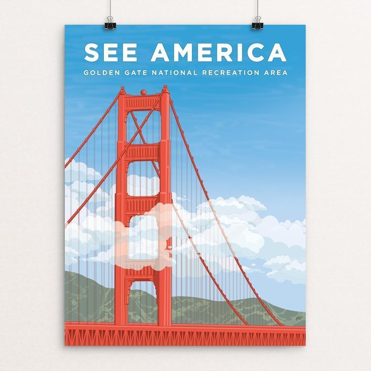 "Golden Gate National Recreation Area by David Hays 12"" by 16"" Print / Unframed Print See America"