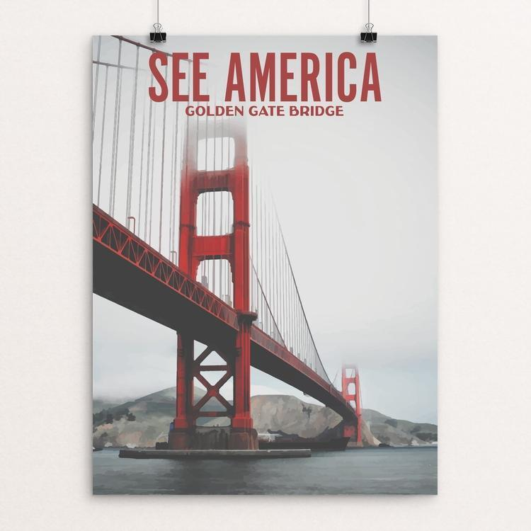 "Golden Gate National Recreation Area by Ike Loveland 12"" by 16"" Print / Unframed Print See America"
