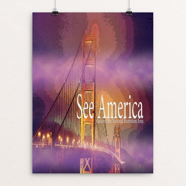 "Golden Gate National Recreation Area by Sierranne 12"" by 16"" Print / Unframed Print See America"