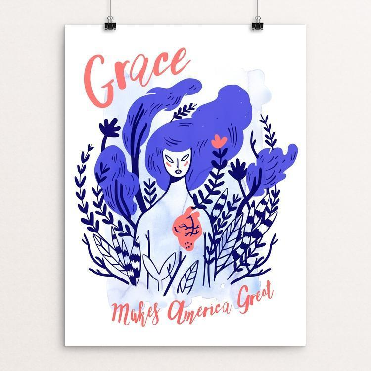 "Grace by Sharon McPeake 12"" by 16"" Print / Unframed Print What Makes America Great"
