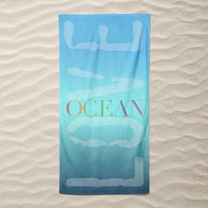 Gradients Ocean Love Beach Towel by Vivian Chang Beach Towel Ocean Love