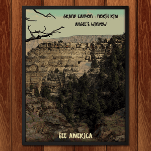"Grand Canyon - Angels Window by Bryan Bromstrup 12"" by 16"" Print / Framed Print See America"