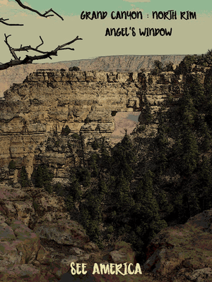 "Grand Canyon - Angels Window by Bryan Bromstrup 12"" by 16"" Print / Unframed Print See America"