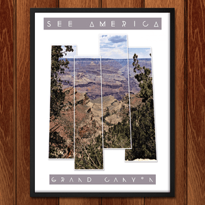 "Grand Canyon - Bright Angel Trail by Bryan Bromstrup 12"" by 16"" Print / Framed Print See America"