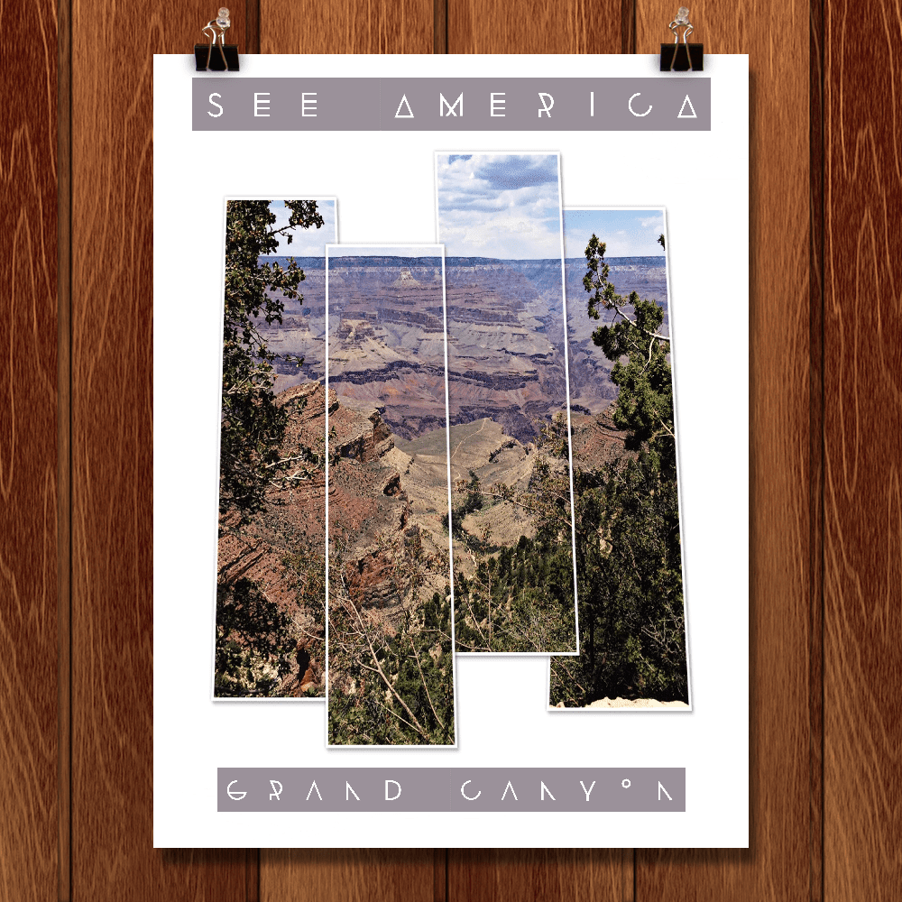 "Grand Canyon - Bright Angel Trail by Bryan Bromstrup 12"" by 16"" Print / Unframed Print See America"