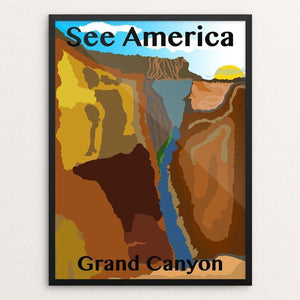 "Grand Canyon by Evan Lindner 12"" by 16"" Print / Framed Print See America"
