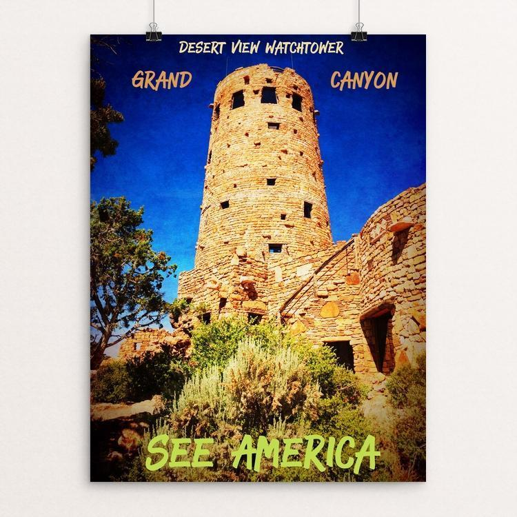 "Grand Canyon Desert View Watchtower by Bryan Bromstrup 12"" by 16"" Print / Unframed Print See America"