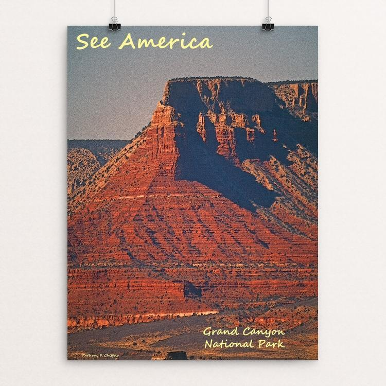 "Grand Canyon National Park 2 by Anthony Chiffolo 12"" by 16"" Print / Unframed Print See America"