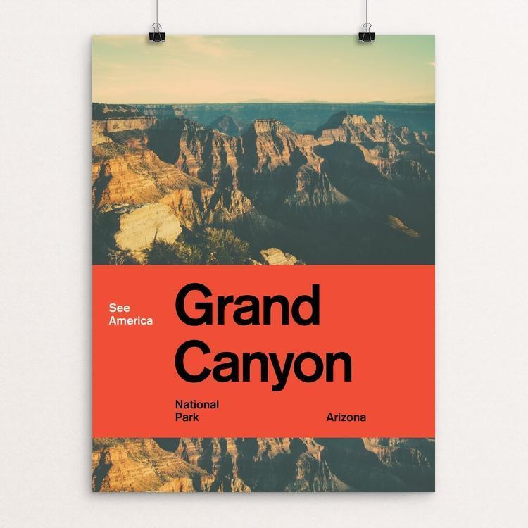 "Grand Canyon National Park 2 by Brandon Kish 12"" by 16"" Print / Unframed Print See America"