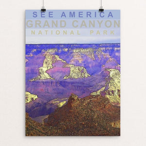 "Grand Canyon National Park by Amanda Pulawski 12"" by 16"" Print / Unframed Print See America"