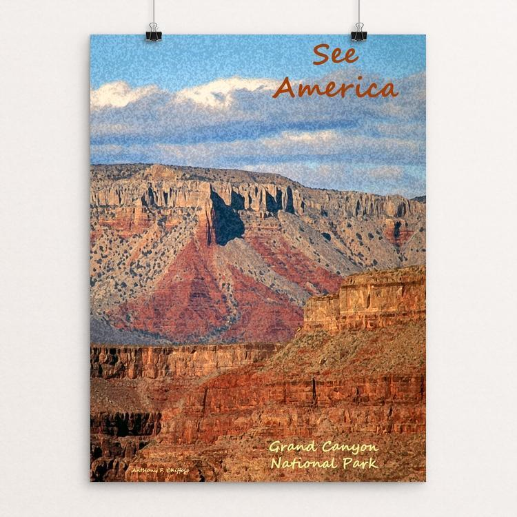 "Grand Canyon National Park by Anthony Chiffolo 12"" by 16"" Print / Unframed Print See America"