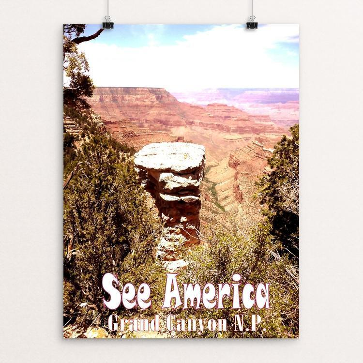 "Grand Canyon National Park by Bryan Bromstrup 12"" by 16"" Print / Unframed Print See America"