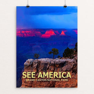"Grand Canyon National Park by Ed Gleichman 12"" by 16"" Print / Unframed Print See America"
