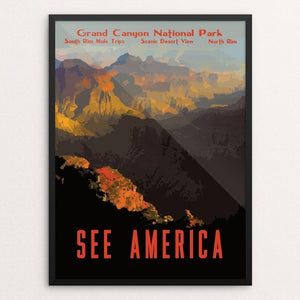 "Grand Canyon National Park by Isaac Loveland 12"" by 16"" Print / Framed Print See America"