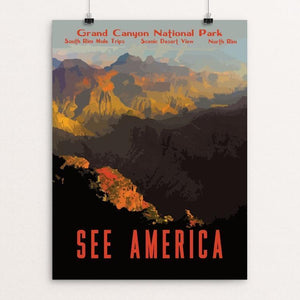 "Grand Canyon National Park by Isaac Loveland 12"" by 16"" Print / Unframed Print See America"