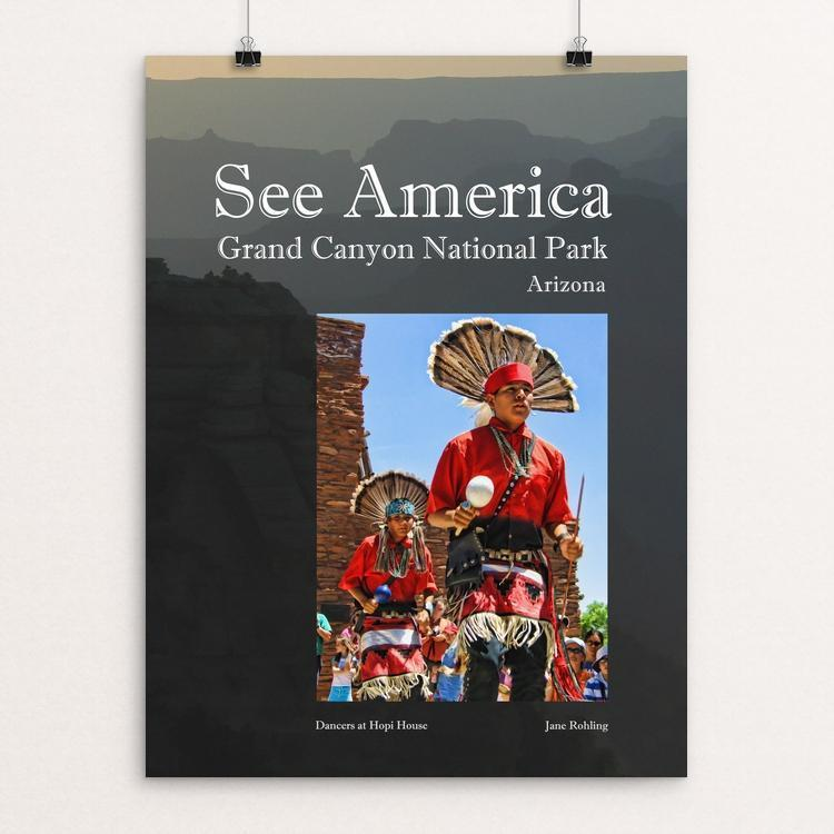 "Grand Canyon National Park by Jane Rohling 12"" by 16"" Print / Unframed Print See America"