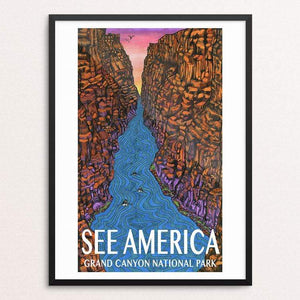 "Grand Canyon National Park by Kaitlyn Beiriger 18"" by 24"" Print / Framed Print See America"