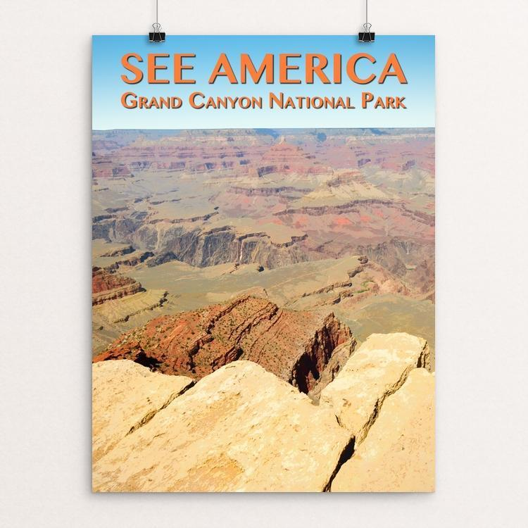"Grand Canyon National Park by Zack Frank 12"" by 16"" Print / Unframed Print See America"