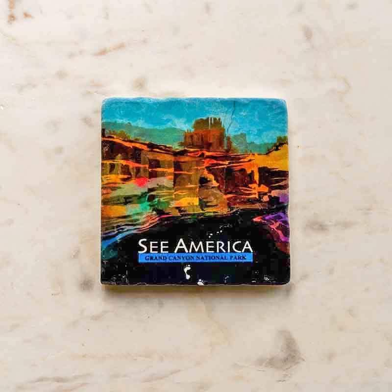 Grand Canyon National Park Coaster by Mayanglambam Dinesh Singh Coaster See America