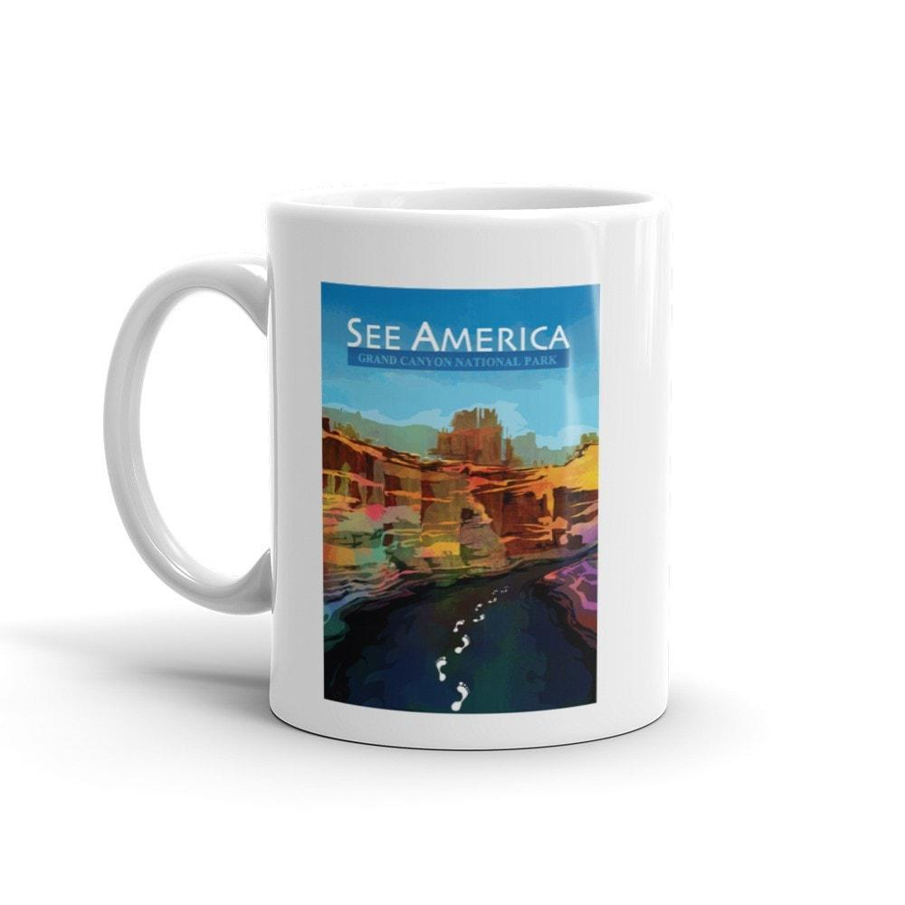 Grand Canyon National Park Mug by Mayanglambam Dinesh Singh