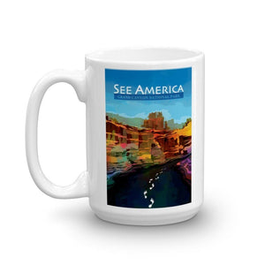 Grand Canyon National Park Mug by Mayanglambam Dinesh Singh 15oz Mug See America