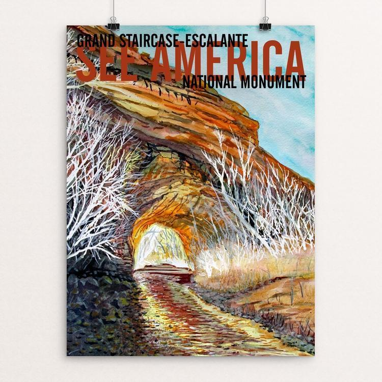 "Grand Staircase-Escalante National Monument-Coyote Gulch by Bruce and Scott Sink 12"" by 16"" Print / Unframed Print See America"