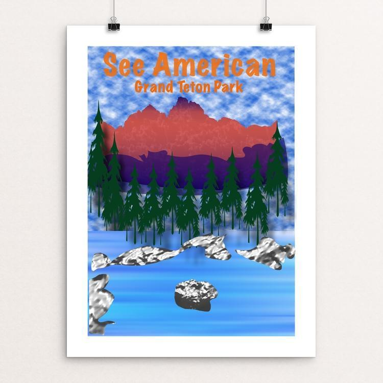 "Grand Teton by Jimmy Zhang 12"" by 16"" Print / Unframed Print See America"