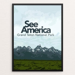 "Grand Teton by Sarah McMahon 12"" by 16"" Print / Framed Print See America"