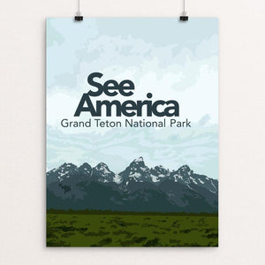 "Grand Teton by Sarah McMahon 12"" by 16"" Print / Unframed Print See America"