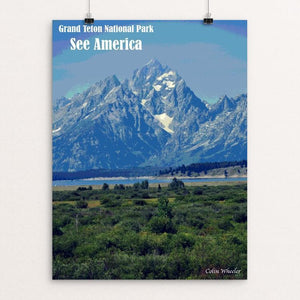 "Grand Teton National Park by Colin Wheeler 12"" by 16"" Print / Unframed Print See America"